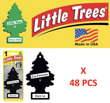 Black Ice Freshener Little Trees 10155  Air Little Tree MADE IN USA Pack of 48