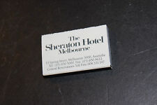 The Sheraton Hotel Melbourne Matchbook matches unused