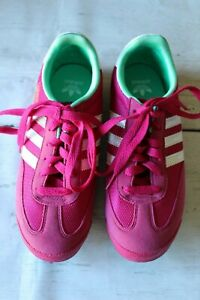 Adidas Dragon Originals Women's Shoes Pink with Mint Suede Retro Size 4.5 Used