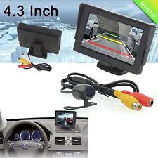 """Car Rear View 4.3"""" Color LCD Screen Monitor + 170° CQAS Backup Reverse Camera UP"""
