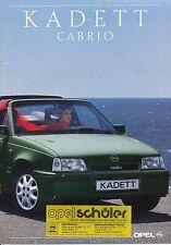 Opel Kadett Cabrio Prospekt 7 90 brochure 1990 Auto PKW Deutschland Autoprospekt