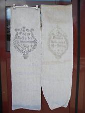 2x LEINENSACK 1863+1881 St. Georgen 4983+4951 Polling  Leinen Sack linen bag