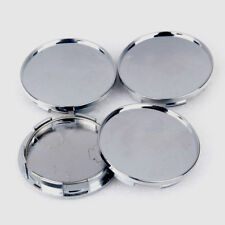 68mm Silver Car Wheel Tire Center Hub Caps Covers Set No Logo Chrome Universal