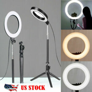 5500K LED Ring Light Dimmable Lamp Photography Camera Phone Video Studio Photo