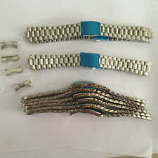 22mm president Watch strap Solid Stainless Steel watch Band Bracelet Curved End