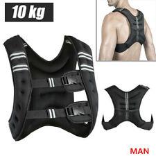 10kg Gewichtweste Trainingsweste Gewichte Weste Laufweste Fitness schwarz Weste