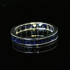 ANTIQUE ART DECO SAPPHIRE ETERNITY RING 18CT WHITE GOLD