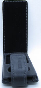 Exspect black Leather Flip Over Case Cover for iPod Nano 4G 4th Generation