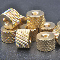 20 pcs M4 x 0.7mm Brass Pineapple pattern knurled Thumb cylindrical copper nuts