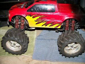 traxxas emaxx 3906 chassis arms rc monster truck parts 4x4 ofna losi hpi mgt