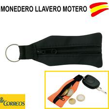 MONEDERO LLAVERO MOTERO - LLAVEROS PARA MOTO EN COLOR NEGRO