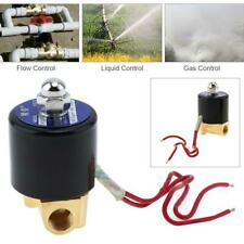 110V Pneumatic Electric Solenoid Valve Air Gas Water Normally Closed 1/4