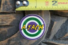 A-Tach Bodyboards Pro Body Boards Target 80's Purple Green V19a Surfing Sticker