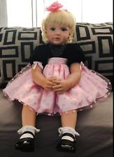 "NPK 24"" Reborn Baby Dolls Soft Cloth Body Toddler Girl Doll Real Size Look"