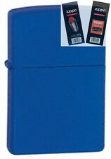 Zippo 229 royal blue matte Lighter with *FLINT & WICK GIFT SET*