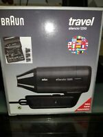 NEU Braun Reisefön travel silencio International 1250 OVP Föhn Haartrockner