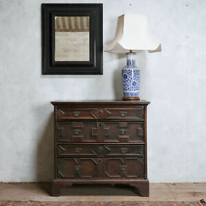 Antique 17th Century Oak Chest Of Drawers