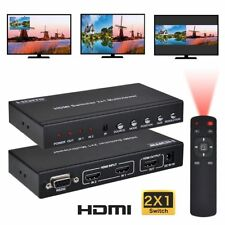 HDMI 2X1 MultiViewer 1080P 2 in 1 out HDMI Switch Screen Splitter with PIP POP