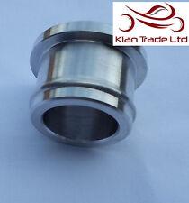 38mm Protección Bung PLUG Recirculación Válvula De Descarga Bov aluminio PLATA -