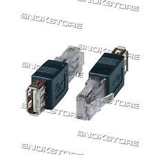 ADATTATORE CONNETTORE LAN USB 2.0 RJ45 ETHERNET MASCHIO PC LAPTOP solo modem