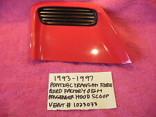 1993-1997 PONTIAC TRANS AM FIREBIRD OEM PASSENGER HOOD SCOOP VENT RED # 10236033