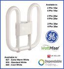 GE 2D WATTMISER ENERGY SAVING TUBE Lamp Bulb 16w 21w 28w 38w 55w - 2 / 4 PIN