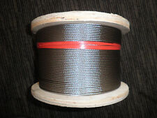 Stainless Wire Cable AISI 316 7x7 3.2mm- 305MTR Roll
