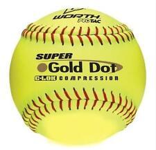 "(1) Worth 12"" Protac Super Gold Dot 375 Compression Softball Fast Ship! D35"
