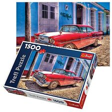 Trefl 1500 piece adulte grand chevrolet oldtimer rapide sol voiture jigsaw puzzle neuf