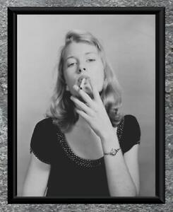 Odd ... Woman Smoking Cigarette ... Vintage Photo 8x10 Print