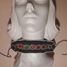 BellyDance ATS Costume Embroidered CHOKER Kuchi Tribal 798r5
