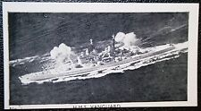 HMS VANGUARD   Royal Navy Battleship    Vintage Photo Card  # VGC