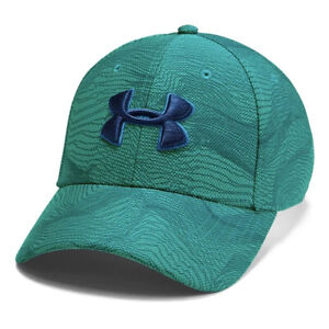 Under Armour UA Kids Blitzing 3.0 Printed Turquoise Stretch Fit Boys Cap S/M