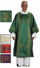 Deacon Dalmatic Gold Banding in Jacquard and Lined in Satin with matching stole