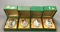 Set of 4 Boxed Royal Bayreuth 1976, 77, 79, 80 Porcelain Easter Eggs Germany AA