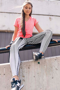 Colombian High Quality Women Workout Waist Legging Control Fitness Pink Shirt