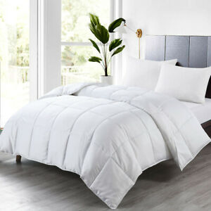 Bamboo Cool Comforter Baffle Box Down Alternative Duvet Insert All Season