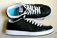 Converse All Star Black Leather Trainers UK 8