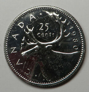 Canada 25 Cents 1980 Nickel KM#74 Proof Like