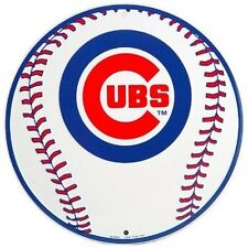 Chicago Cubs MLB Embossed Metal Novelty Round Sign