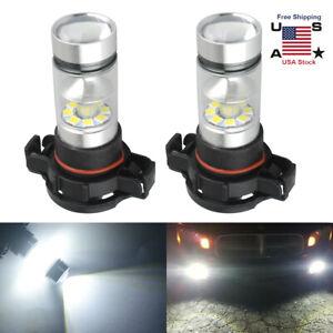 2PCS H16 5202 20SMD LED Fog Light Bulbs 6000K White for Chevrolet Dodge GMC Jeep