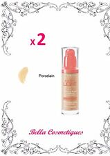 BULK 2 X BOURJOIS PARIS HAPPY LIGHT FOUNDATION  50 PORCELAIN