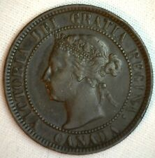 1901 Copper Canadian Large Cent Coin 1-Cent Canada XF #10