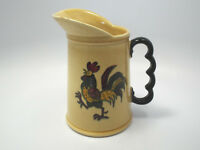 Vintage Metlox Poppytrail California Provincial Green Rooster 24oz Pitcher