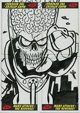 Mars Attacks The Revenge 4 Piece Puzzle Sketch Card Set By Patrick Giles
