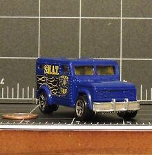 Police S.W.A.T. Armored Blue truck w/ error rear wheel Hot Wheels die cast 1996