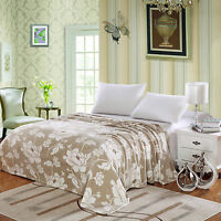 MADISON MICRO PLUSH FLORAL PRINTED BLANKET, THROW BLANKET, FULL TWIN QUEEN KING