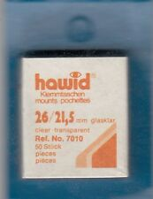 100 Hawid Stamp Mounts 26x22 (21.5) Protection Clear 2 Packs of 50 Free USA S&H