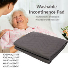 Washable Reusable Bed Pad Hospital Grade Incontinence Adult Pee Underpads Mat R