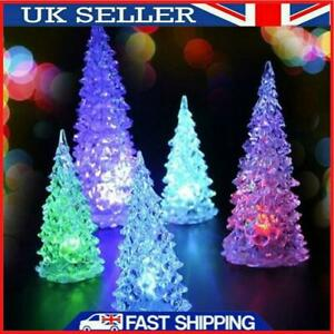 Christmas Tree Ice Crystal Colorful Changing LED Desk Decor #MY